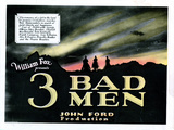 3 Bad Men, Title Card, 1926 Giclee Print