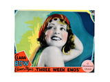 Three Weekends, Clara Bow, 1928 Giclee Print