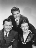 Rich Man, Poor Girl, from Left: Robert Young, Lew Ayres, Ruth Hussey, 1938 Photo