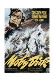Moby Dick, Gregory Peck on Italian Poster Art, 1956 Giclee Print