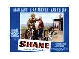 Shane, from Left, Alan Ladd, Brandon De Wilde, 1953 Giclee Print