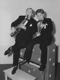 Strike Up the Band, from Left: Paul Whiteman, Mickey Rooney on Set, 1940 Photo