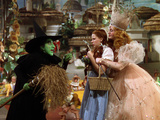 The Wizard of Oz, from Left: Margaret Hamilton, Judy Garland, Billie Burke, 1939 Photographie