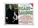 The Heart of Salome, from Left, Walter Pidgeon, Alma Rubens, 1927 Giclée-tryk