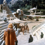 Planet of the Apes, Maurice Evans, Charlton Heston, Robert Gunner, Etc, 1968 Photo