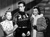 Sun Valley Serenade, from Left, Sonja Henie, John Payne, Lynn Bari, 1941 Photo