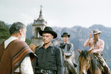 The Magnificent Seven, Yul Brynner, Horst Buchholz, Steve Mcqueen, 1960 Photo