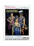 Cleopatra, from Left: Rex Harrison, Elizabeth Taylor, Richard Burton, 1963 Giclee Print