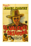 The Oklahoma Kid, (AKA El Valiente De Oklahoma), Spanish Poster Art, James Cagney, 1939 Giclee Print