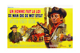 The Good Guys and the Bad Guys, George Kennedy, Robert Mitchum, (Belgian Poster Art), 1969 Giclee Print