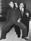 Joe E. Brown, Oliver Hardy, 1950s Photo