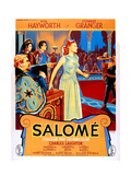 Salome, Charles Laughton (Left), Rita Hayworth (Center), (French Poster Art), 1953 Giclee Print