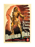 Buffalo Bill, Joel Mccrea on Italian Poster Art, 1944 Giclee Print