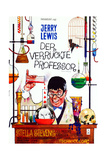 The Nutty Professor, German Poster Art, 1963 Giclee Print