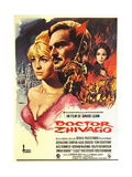 Doctor Zhivago, L-R: Julie Christie, Omar Sharif, Geraldine Chaplin on Spanish Poster Art, 1965 Giclee Print