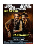 The Sting, from Left, Paul Newman, Robert Redford, 1973 Giclee Print