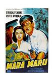 Maru Maru, Ruth Roman, Errol Flynn, (French Poster Art), 1952 Giclee Print