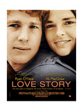 Love Story, from Left: Ryan O'Neal, Ali Macgraw on French Poster Art, 1970 Giclee Print
