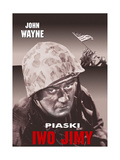 Sands of Iwo Jima, (AKA Iwo Jimy), John Wayne on Polish Poster Art, 1949 Giclee Print