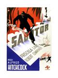 Saboteur, (AKA Sabotor), (Swedish Poster Art), 1942 Giclee Print