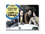 The Girl from Chicago, from Left, Conrad Nagel, William Russell, Myrna Loy, 1927 Giclee Print