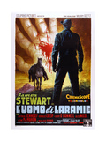 The Man from Laramie, (AKA L'Uomo Di Laramie), Italian Poster Art, 1955 Giclée-tryk