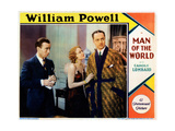 Man of the World, from Left, George Chandler, Wynne Gibson, William Powell, 1931 Giclee Print