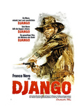 Django, German Poster Art, Franco Nero, 1966 Giclee Print