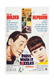 Paris When it Sizzles, Canadian Poster, from Left: William Holden, Audrey Hepburn, 1964 Giclee Print