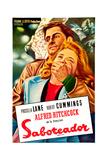 Saboteur, (AKA Saboteador), Robert Cummings, Priscilla Lane, (Argentine Poster Art), 1942 Giclee Print