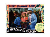 A Message to Garcia, Center, from Left, Barbara Stanwyck, John Boles, 1936 Giclee Print