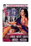 Samson and Delilah, Spanish Poster Art, 1949 Giclee Print