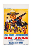 Big Jake, Top: John Wayne on French Poster Art, 1971 - Giclee Baskı