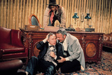 Blazing Saddles, Cleavon Little, Mel Brooks, Harvey Korman, 1974 Photo