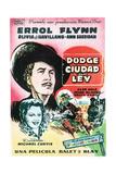Dodge City, Errol Flynn, Olivia De Havilland, 1939. Giclee Print