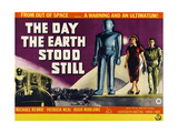 The Day the Earth Stood Still, British Poster Art, Lock Martin, Patricia Neal, Michael Rennie, 1951 Giclee Print