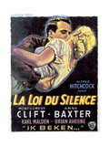 I Confess, from Left: Montgomery Clift, Anne Baxter, 1953 Giclee Print