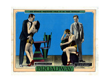 Broadway, from Left, Robert Ellis, Merna Kennedy, Evelyn Brent, Thomas E. Jackson, 1929 Giclee Print