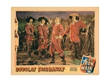 The Iron Mask, from Left: Leon Bary, Gino Corrado, Douglas Fairbanks, Sr., Tiny Sandford, 1929 Giclee Print