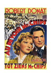 Goodbye, Mr. Chips, (AKA Au Revoir Mr. Chips), from Left: Greer Garson, Robert Donat, 1939 Giclee Print