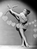 Betty Grable, Wishing Her Fans a Happy Valentine's Day, Ca. Late 1930s Photo
