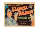 Pardon Us, Titlecard, Front, from Left: Oliver Hardy, Stan Laurel, 1931 Giclee Print