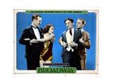 Broadway, from Left, Robert Ellis, Merna Kennedy, Glenn Tryon, Thomas E. Jackson, 1929 Giclee Print