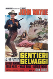 The Searchers, (AKA Sentieri Selvaggi), L-R: John Wayne, Natalie Wood on Italian Poster Art, 1956 Giclee Print