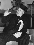 My Little Chickadee, W.C. Fields Rehearsing on Set, 1940 Photo
