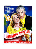 Four Flights to Love, (AKA Paradis Perdu), Fernand Gravey, Micheline Presle, French Poster, 1940 Giclée-tryk