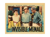 The Invisible Menace, from Left: Phyllis Barry, Harland Tucker, Boris Karloff, 1938 Giclee Print