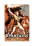Spartacus, Kirk Douglas, (Italian Poster Art), 1960 Giclee Print
