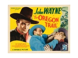 The Oregon Trail, John Wayne (Left and Center), Harry Harvey (Right), 1936 Giclee Print