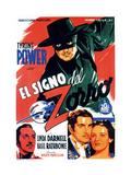 The Mark of Zorro, (AKA El Signo Del Zorro), 1940 Giclee Print
